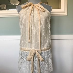 Gorgeous Robert Rodriguez lace and silk top 4